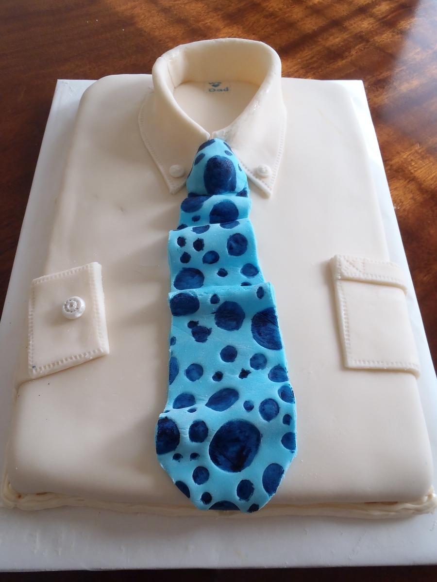 Shirt design cake - Shirt Tie Cake On Cake Central