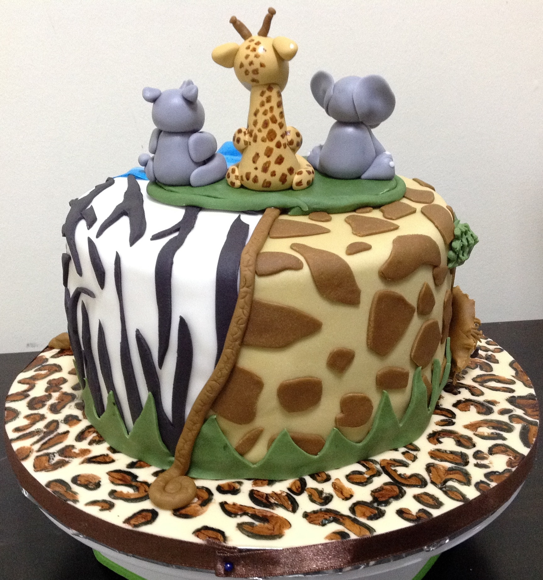 African Theme 6Th Birthday Cake