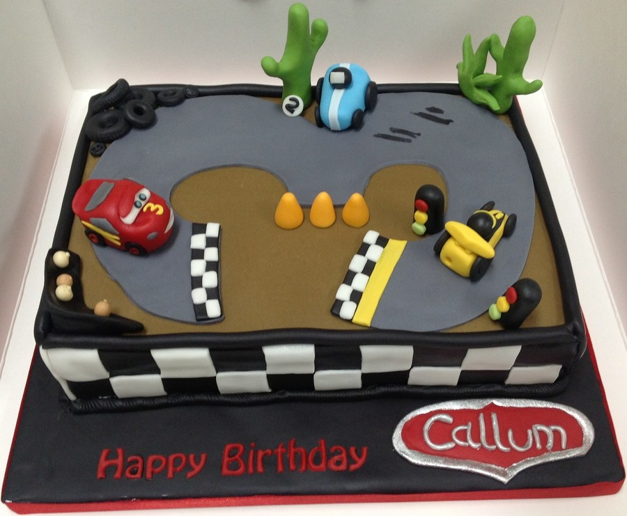 3Rd Birthday Racing Car Cake on Cake Central