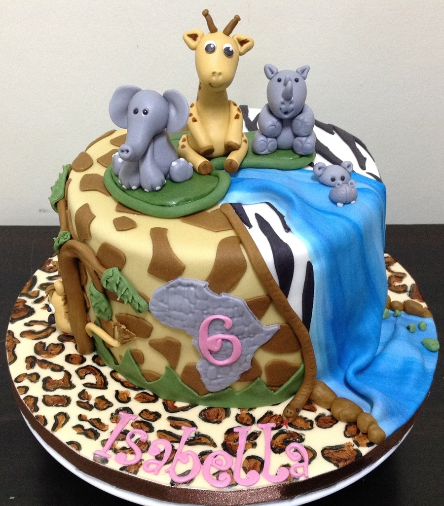 Pleasing African Theme 6Th Birthday Cake Cakecentral Com Birthday Cards Printable Trancafe Filternl