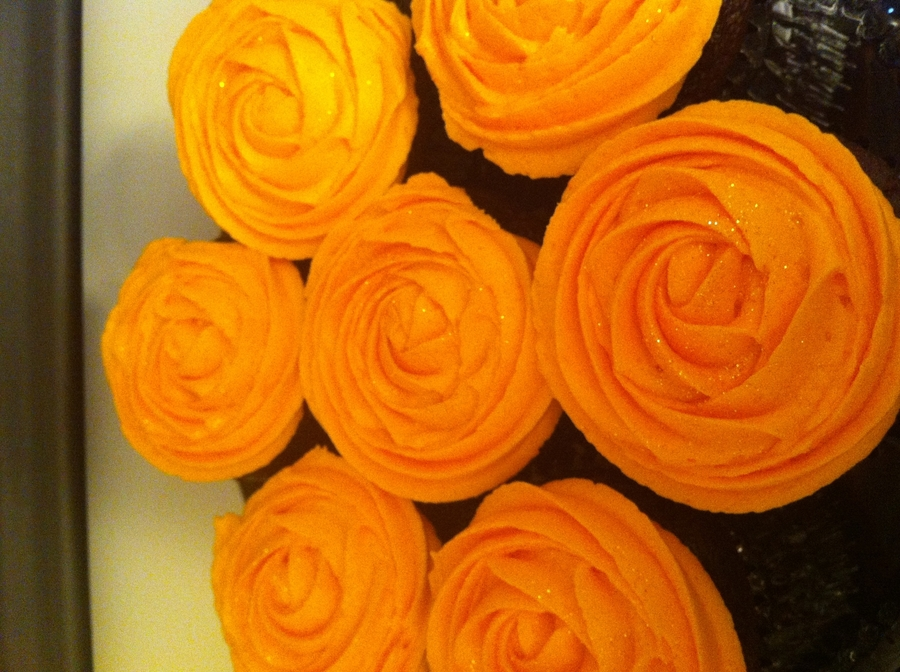 Fall Rose Cupcakes on Cake Central