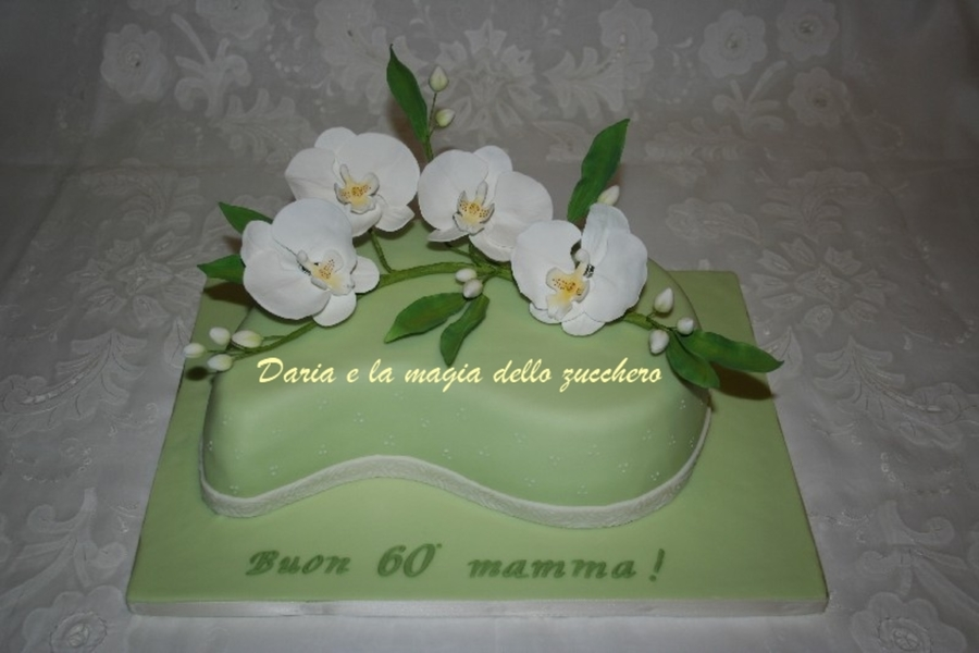 Gum Paste White Orchids on Cake Central