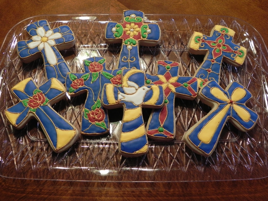 Stained Glass Cross Cookies on Cake Central