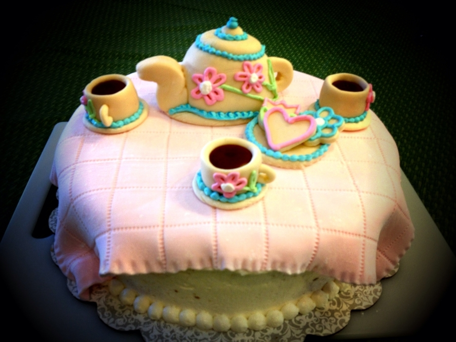 Garden Tea Party Cake on Cake Central