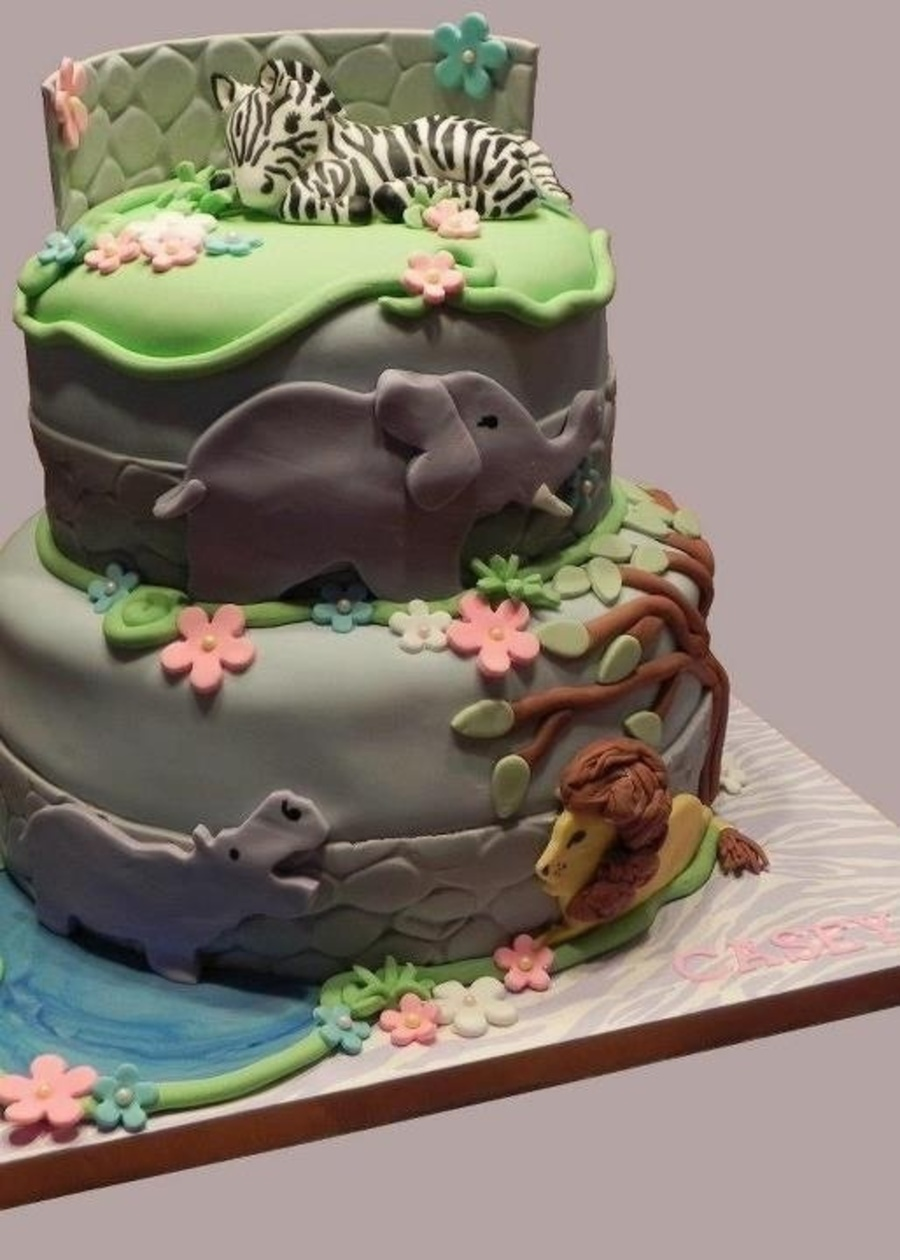 Zoo Themed Birthday  on Cake Central