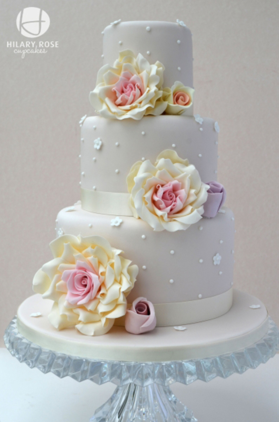 three tier wedding cakes with roses wedding cake cakecentral 20951