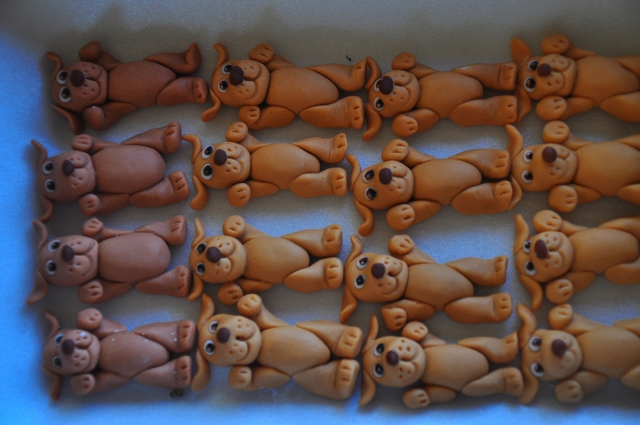 Puppy Cupcake Toppers on Cake Central