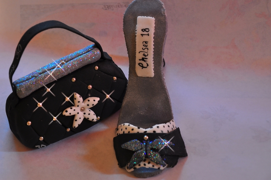 High Heel Shoe And Matching Bag on Cake Central
