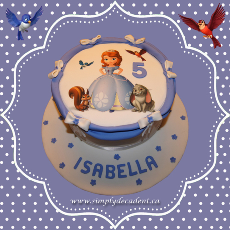 Sofia The First Once Upon A Princess Birthday Cake Cakecentral
