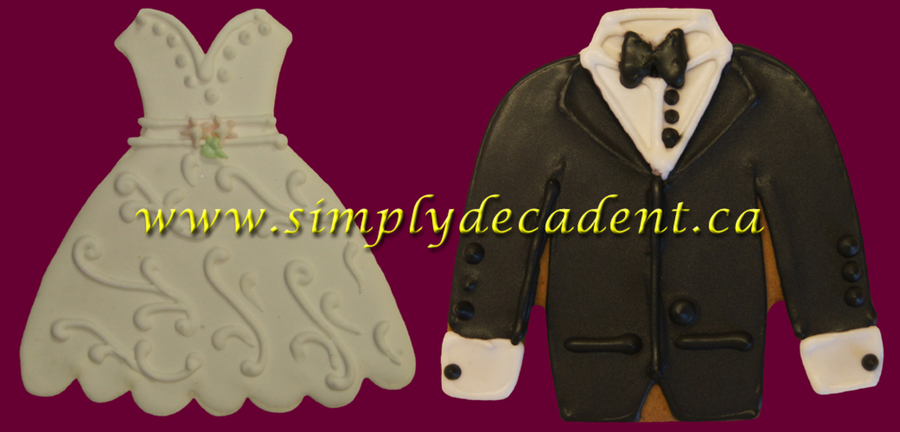 Gingerbread Cookies Bridal Gown Amp Groom Tuxedo on Cake Central