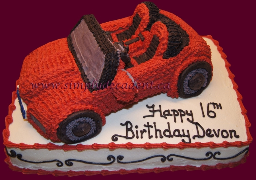 3D Red Convertable Car Cake on Cake Central