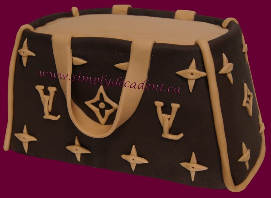 3D Louis Vuitton Purse Cake (Brown)  on Cake Central