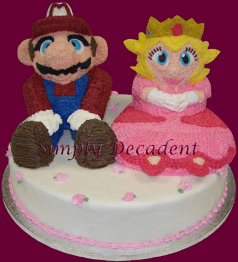 Mario Amp Peach Nintendo Cake on Cake Central