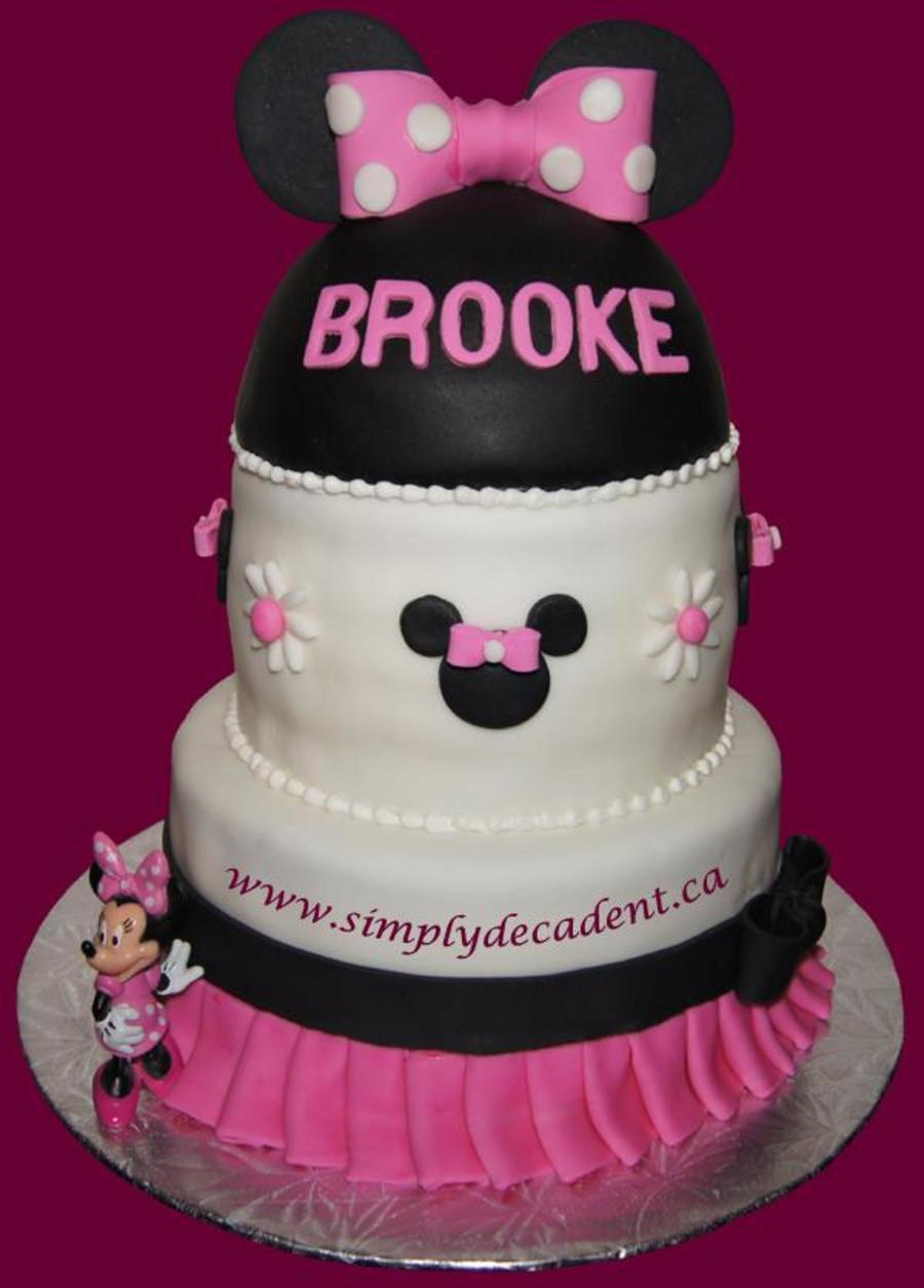 3 Tier Fondant Minnie Mouse Cake on Cake Central
