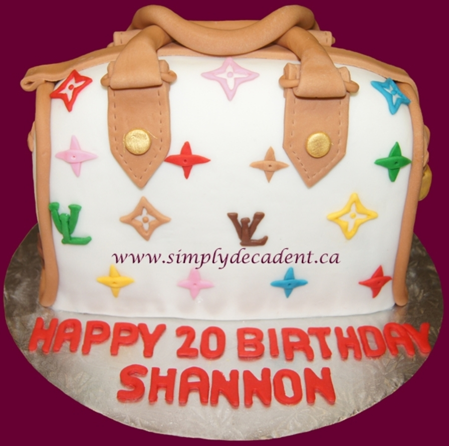 3D Louis Vuitton Purse Cake on Cake Central