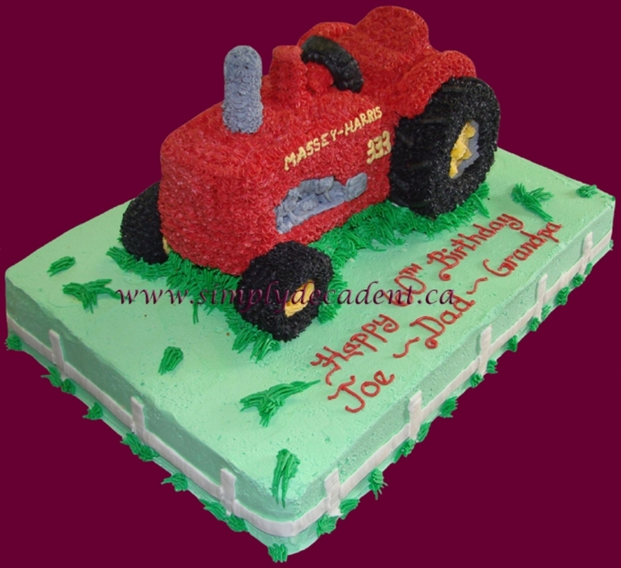 3D Massey Harris Red Tractor Cake on Cake Central
