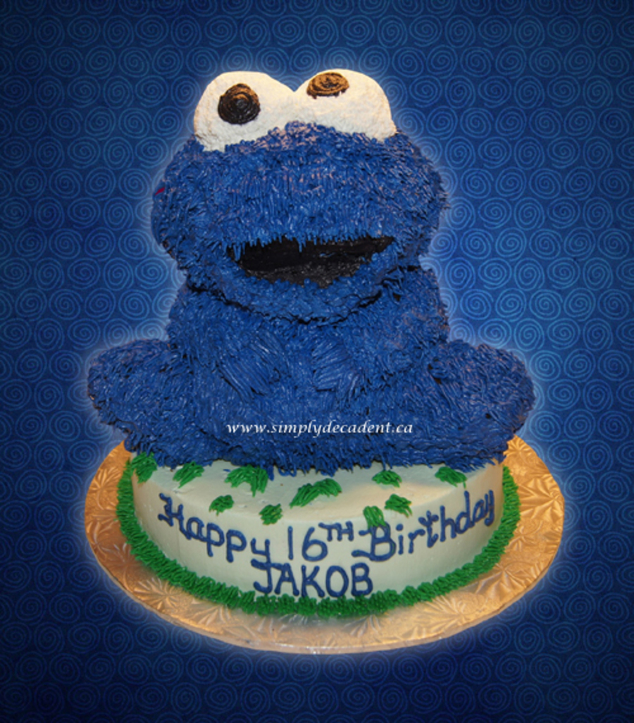 3D Buttercream Baby Cookie Monster Sesame Street on Cake Central