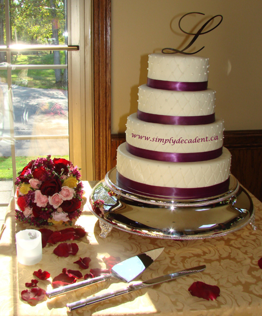 4 Tier Fondant Quilted Wedding Cake on Cake Central