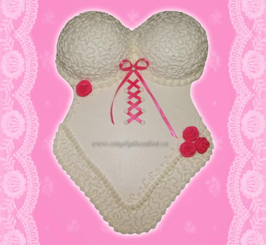 bridal shower lingerie cake on cake central