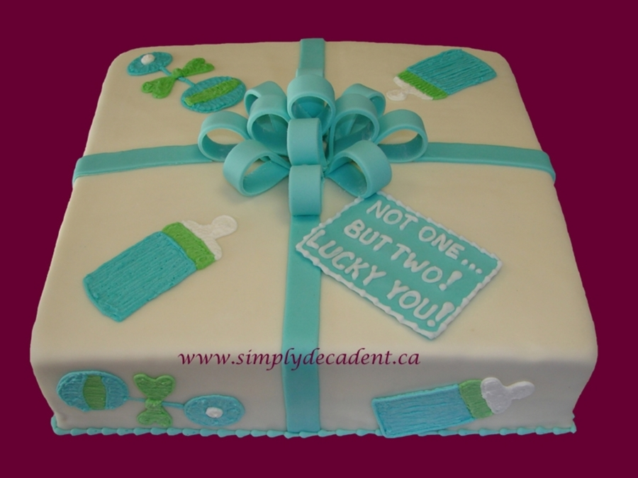 Baby Gift Box Shower Cake on Cake Central