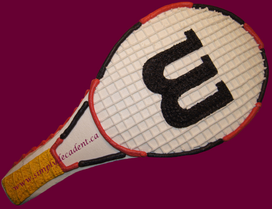 Wilson Tennis Racket Cake on Cake Central