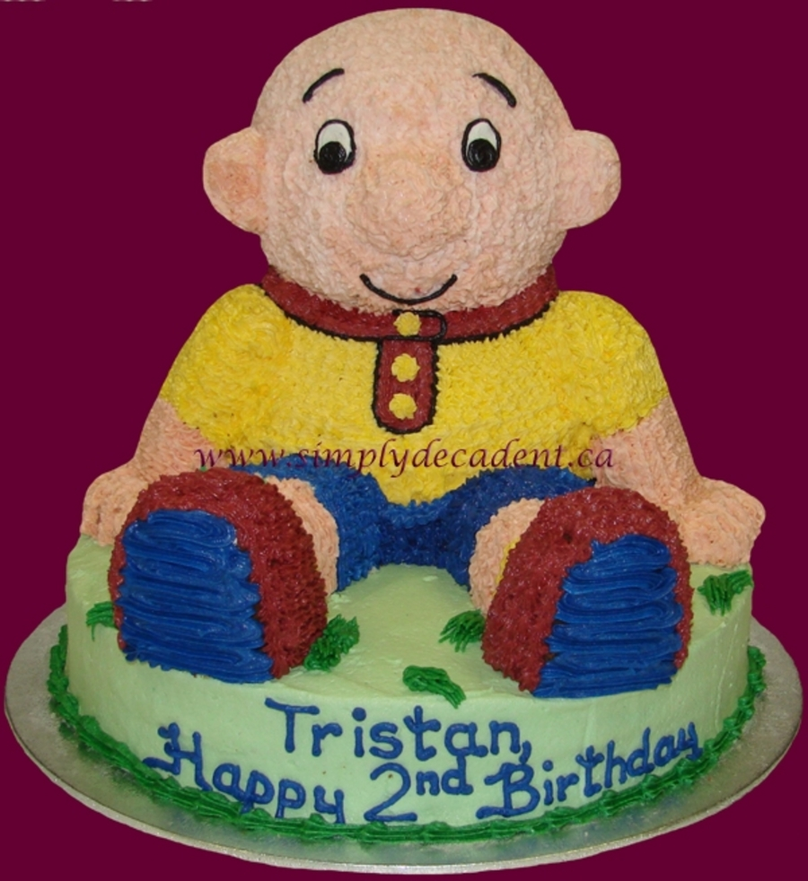 3D Caillou Cake on Cake Central