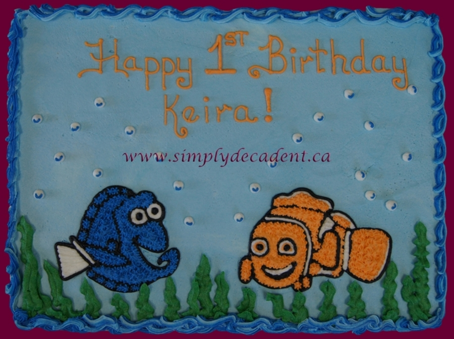 Finding Nemo & Dory Birthday Cake on Cake Central