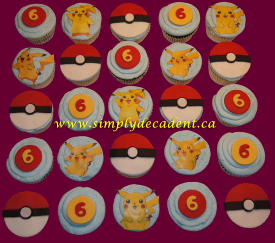 Pokemon Cupcakes on Cake Central