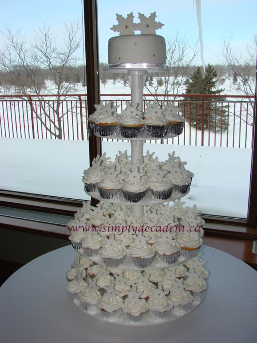 Winter Snowflake Cupcake Wedding on Cake Central