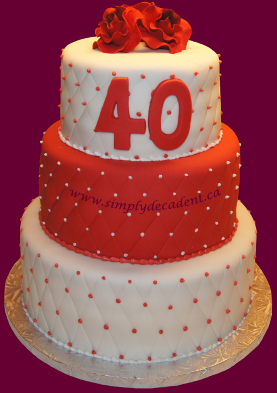 40th wedding anniversary cake. Black Bedroom Furniture Sets. Home Design Ideas