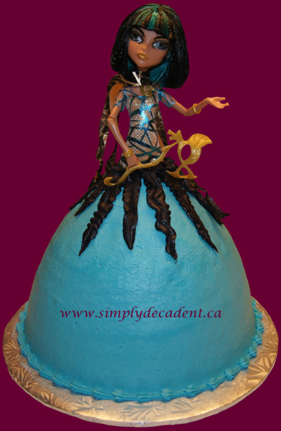 Cleo De Nile Barbie Cake  on Cake Central