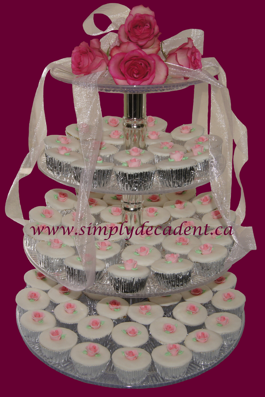 Wedding Cupcakes Fondant With Pink Rose on Cake Central