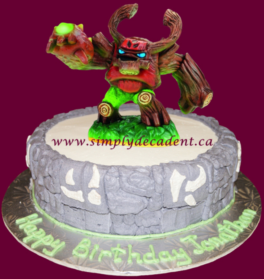 Skylander Withtree Rex Birthday Cake on Cake Central