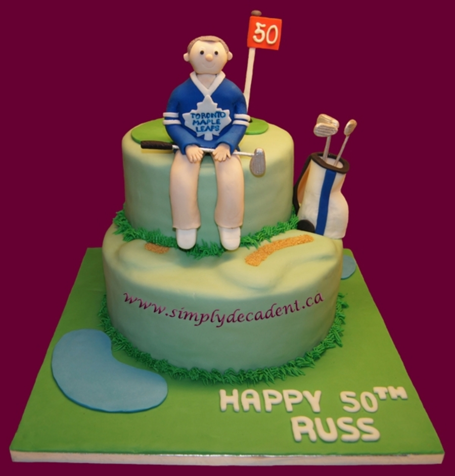 3D Golfer With Golf Bag  on Cake Central