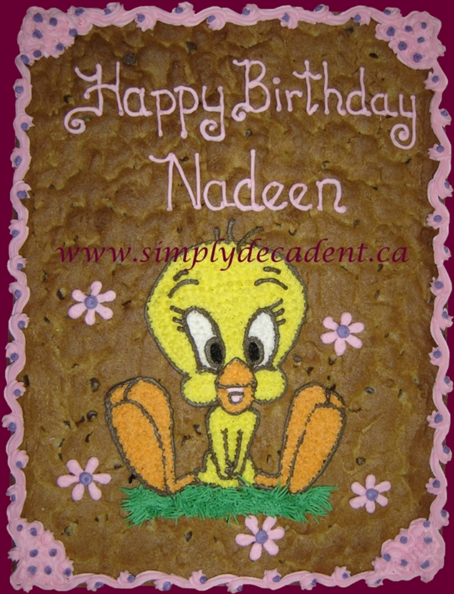 Tweety Bird Cookie Gram on Cake Central