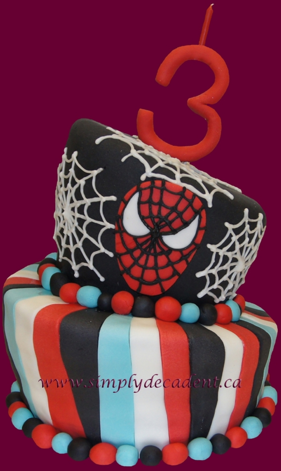 3D Spiderman Topsy Turvy Cake on Cake Central