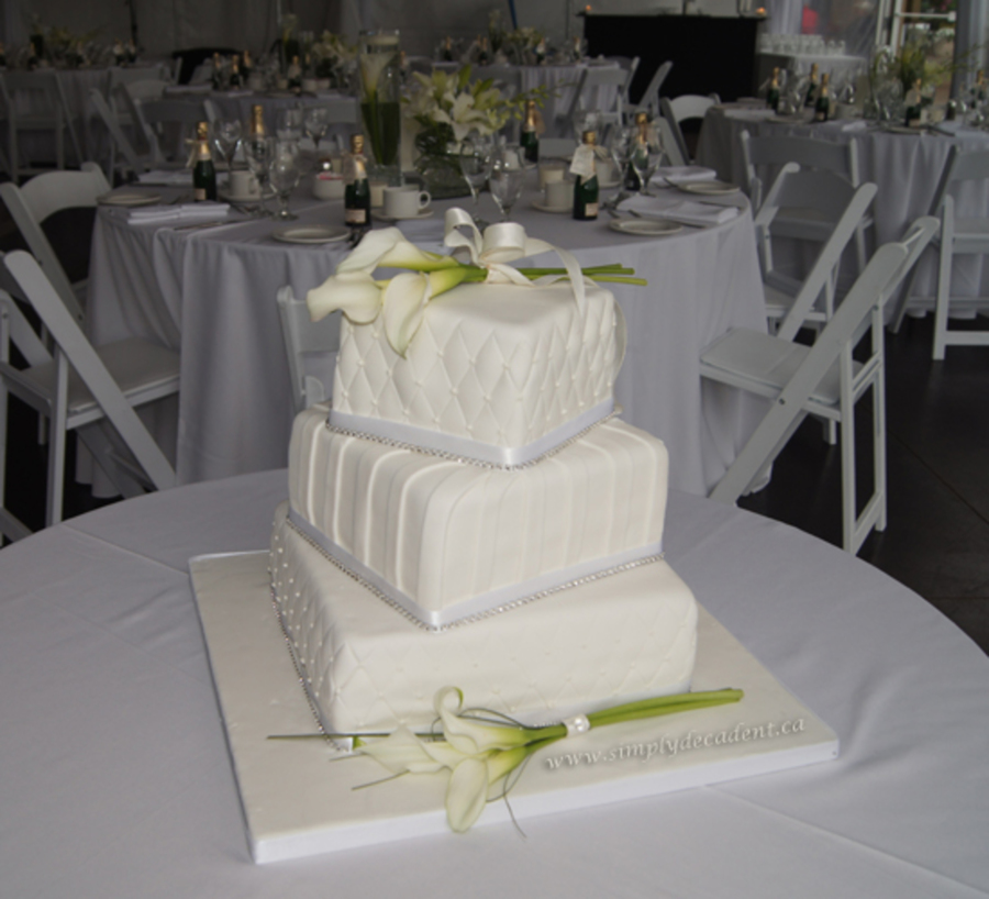 3 tier wedding cake stand offset 3 tier square ivory set wedding cake with quilting pin 10317