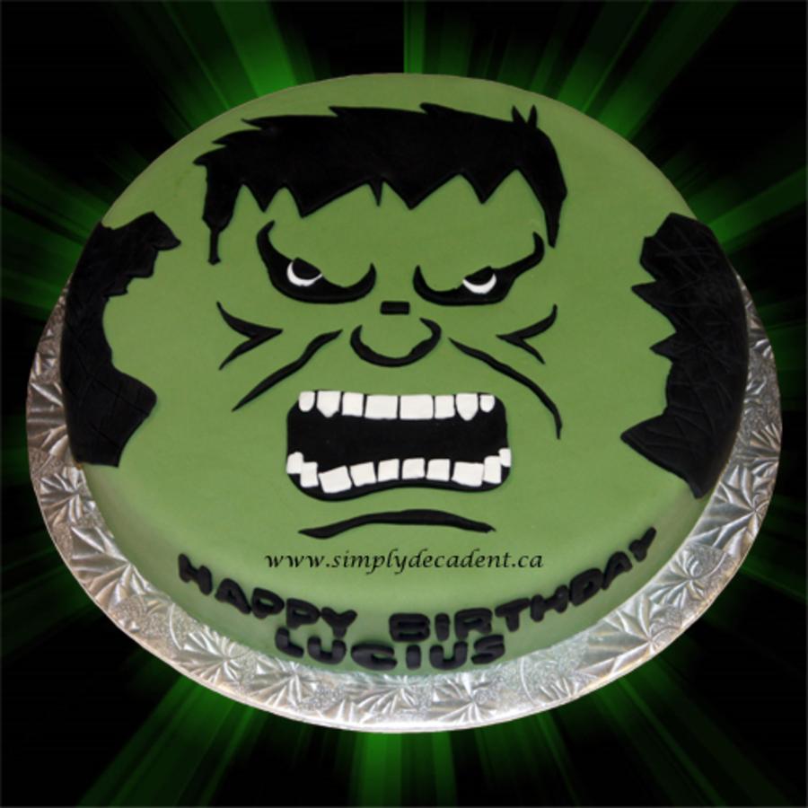 Pleasing Fondant Hulk Birthday Cake Cakecentral Com Funny Birthday Cards Online Elaedamsfinfo