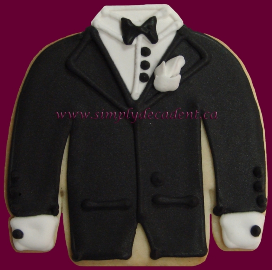 Groom Tuxedo Cookie on Cake Central