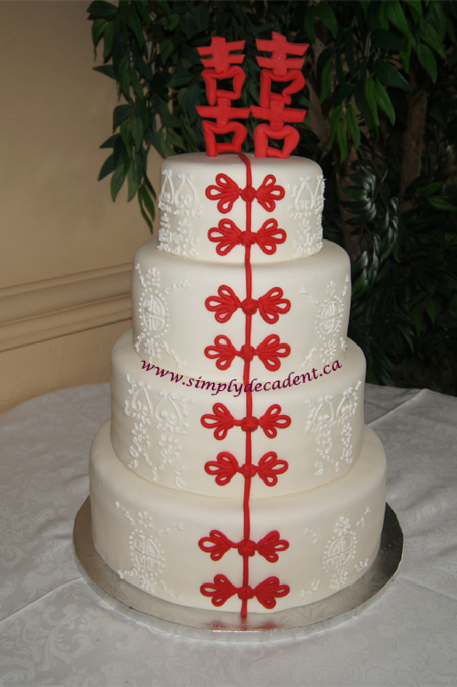 chinese wedding cakes pictures happiness wedding cake cakecentral 12668