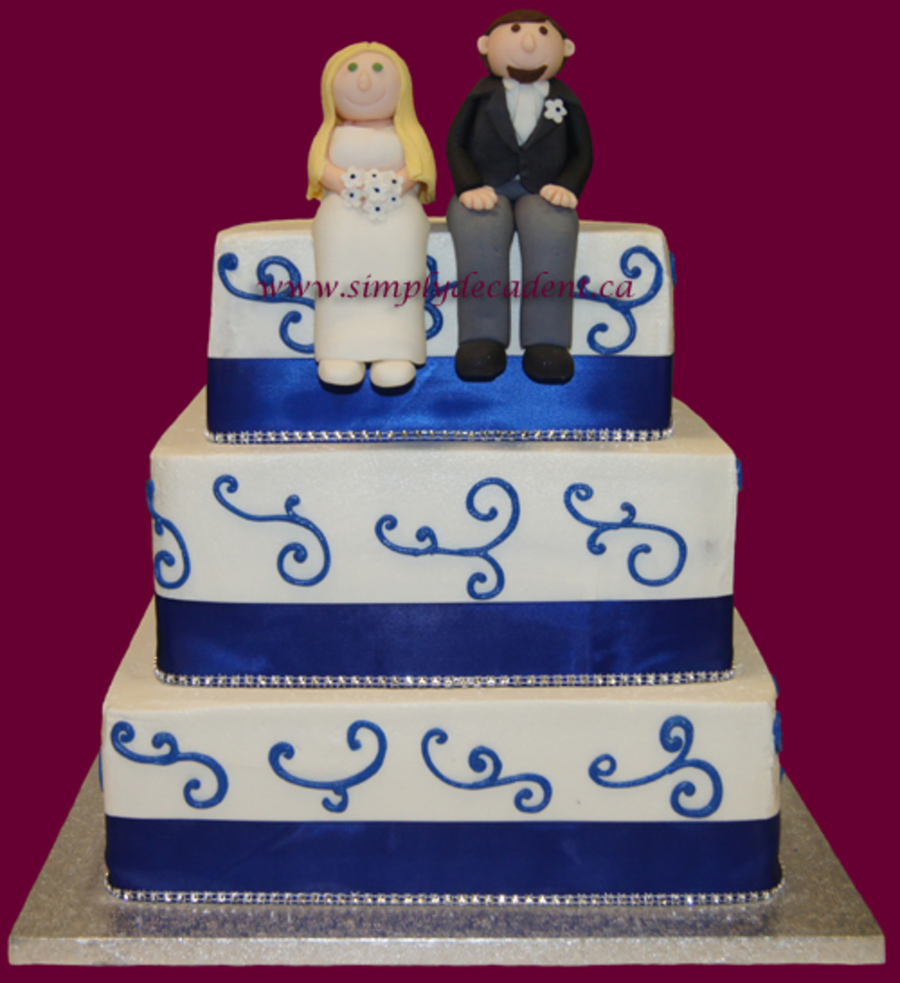 3 Tier Buttercream Wedding Cake With Hand Sculptured Fondant Bride Amp Groom Figures on Cake Central