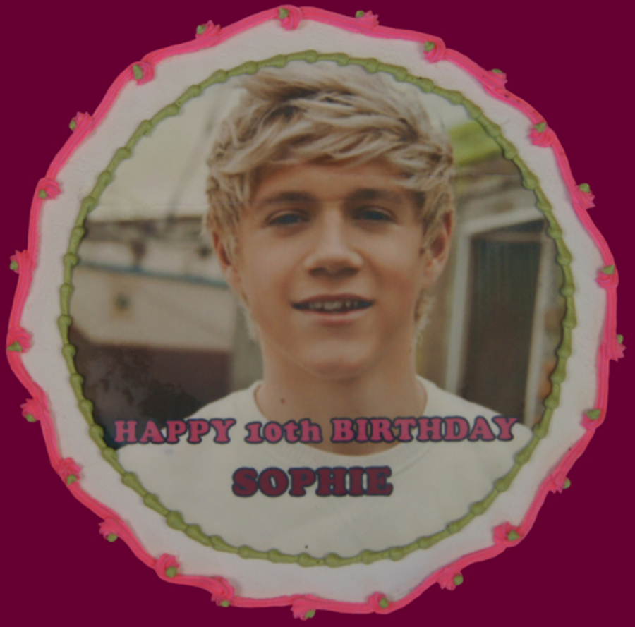 Niall Horan New Direction Edible Image Cake on Cake Central