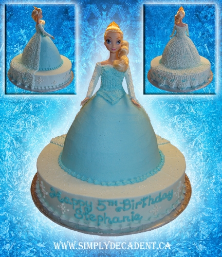 Marvelous Disney Frozen Elsa Birthday Cake Cakecentral Com Funny Birthday Cards Online Unhofree Goldxyz