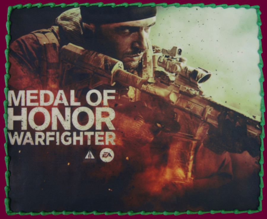 Medal Of Honor Warfighter Edible Image Cake on Cake Central