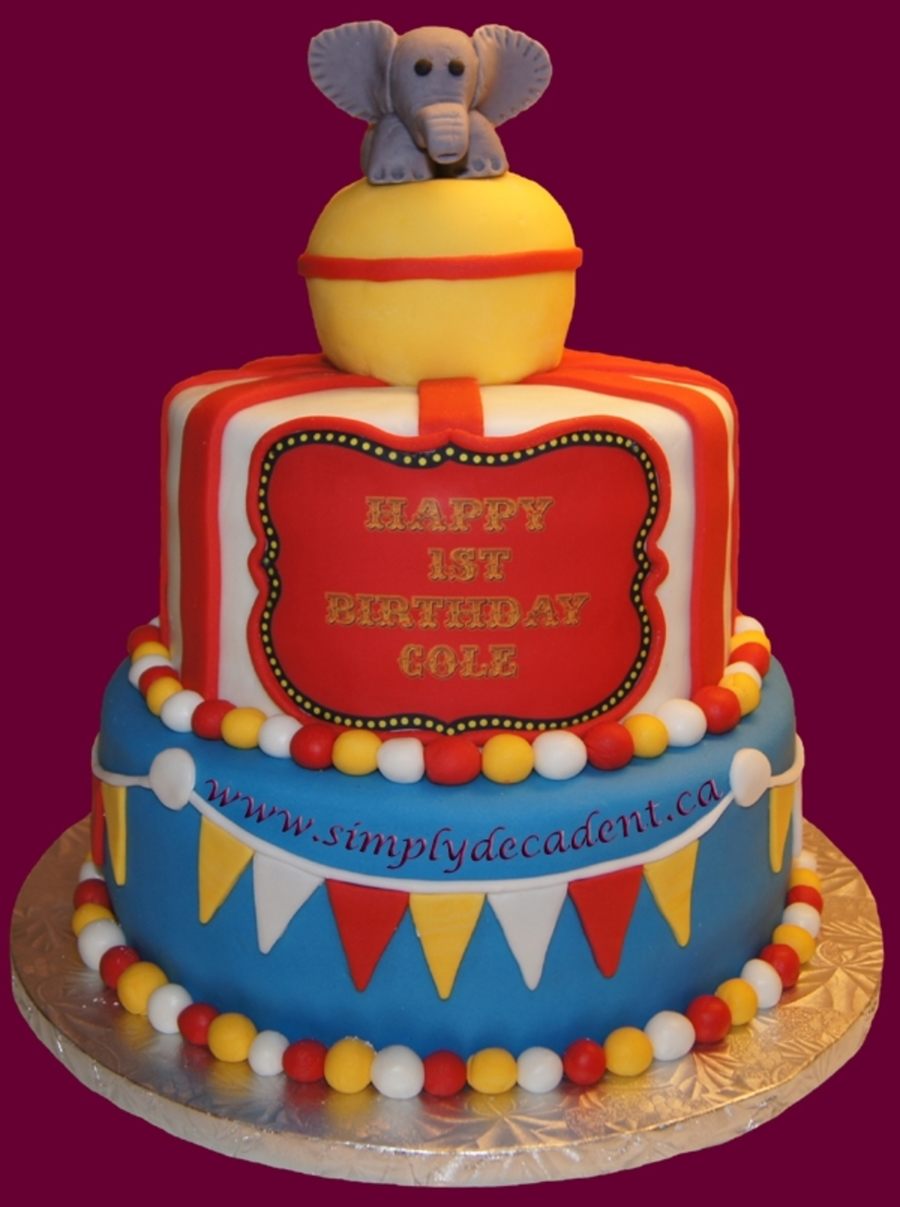 3D Circus Cake With Elephant On Ball on Cake Central
