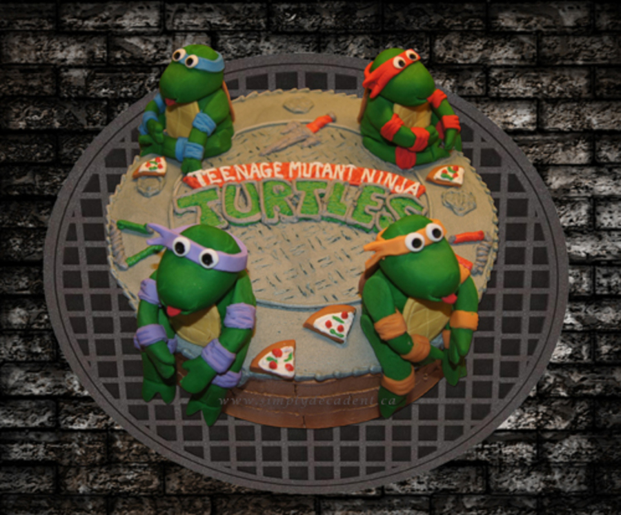 Michelangelo Ninja Turtle Birthday Cake