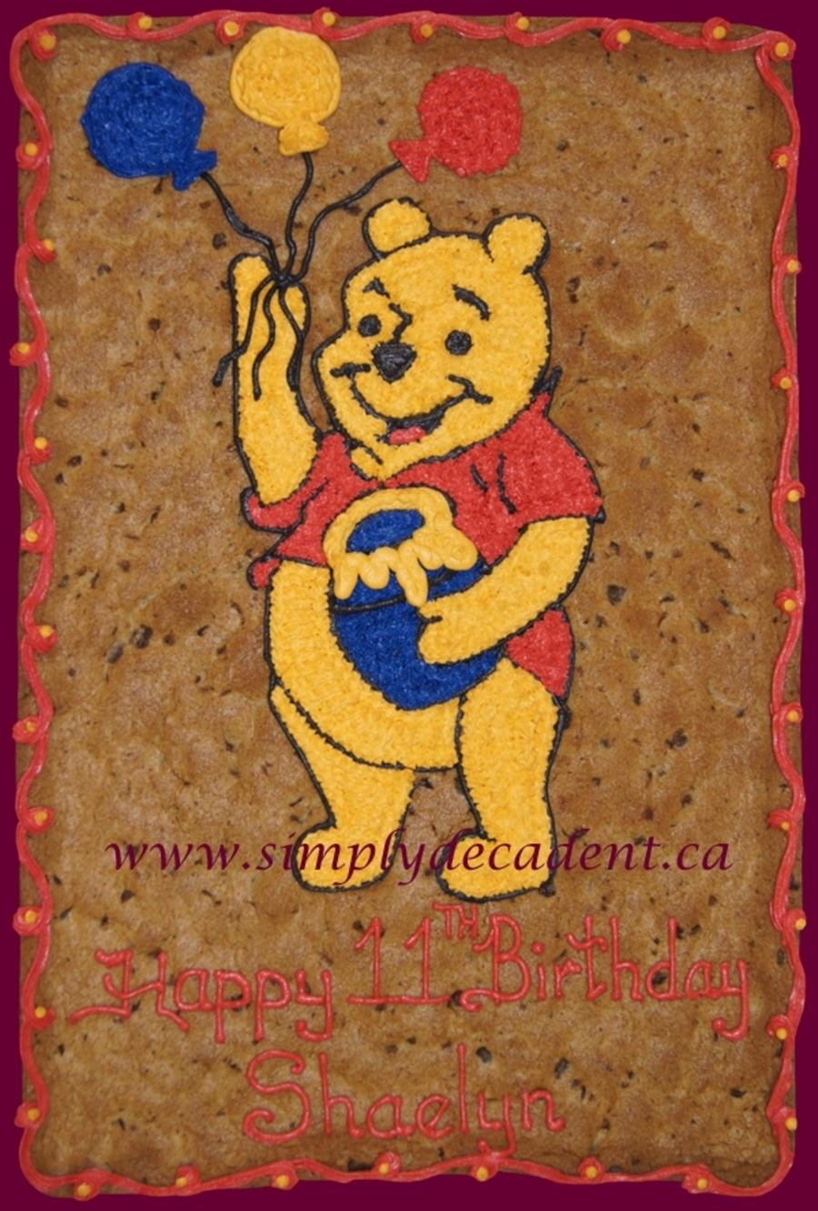Winnie The Pooh Cookie Gram on Cake Central