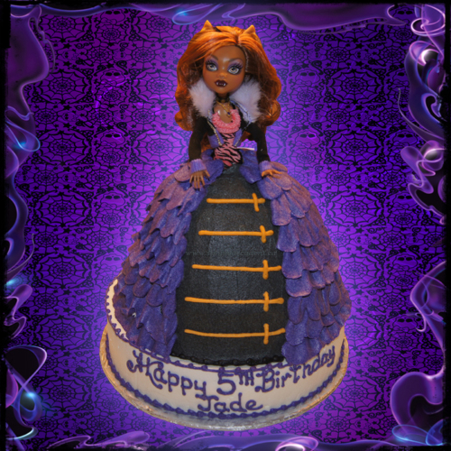 3d Monster High Robecca Steam Doll Birthday Cake Cakecentral Com