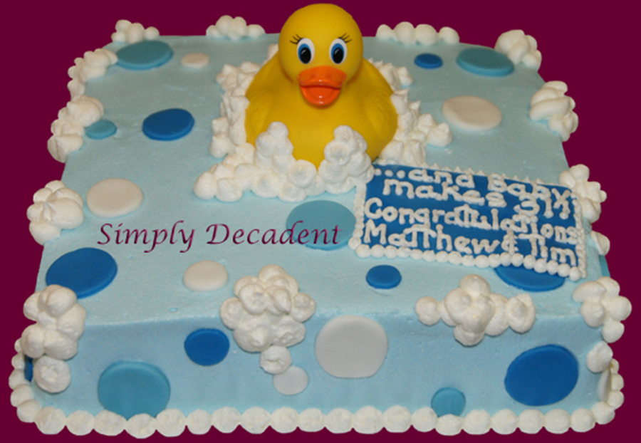Rubber Ducky Baby Shower Cale on Cake Central