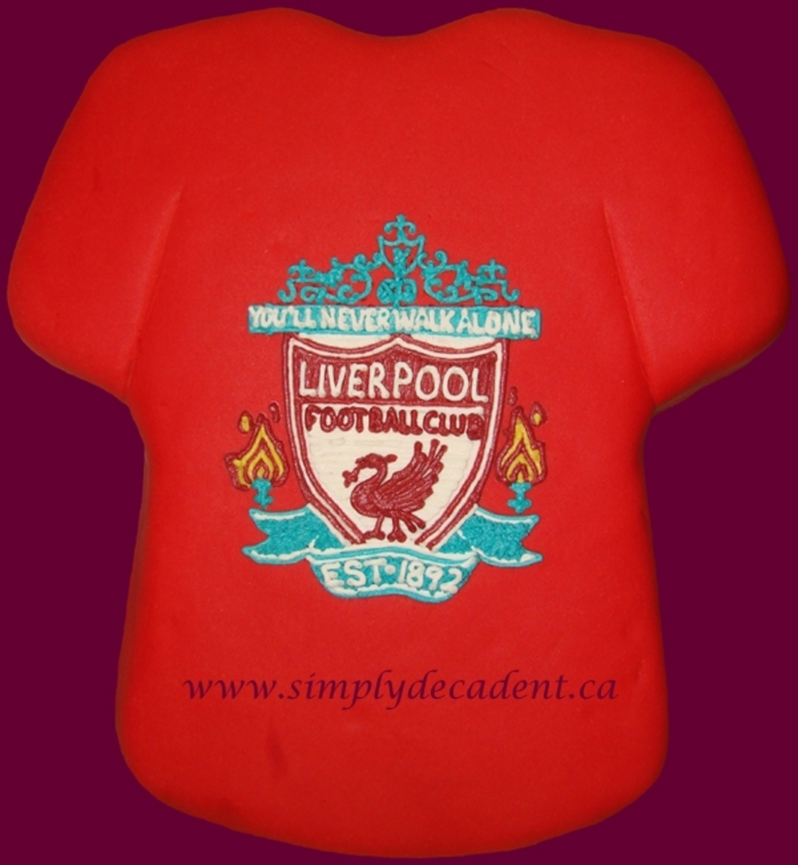 Liverpool Soccer Club Jersey on Cake Central